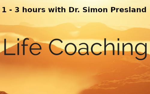 life coaching with Dr Simon Presland 1 3 hours
