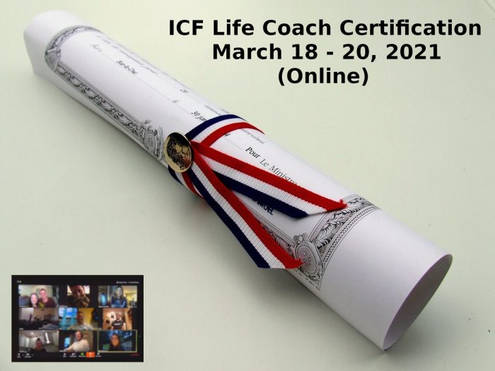 ICF Life Coach Certification March 18 20 2021 2