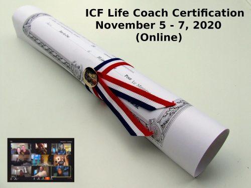 ICF Life Coach Certification Online November 5 7 2020 2