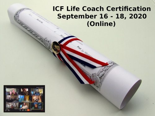 ICF Life Coach Certification September 16 18 2021 2