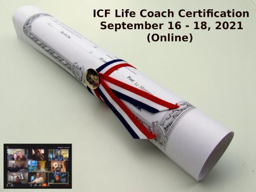 ICF Life Coach Certification September 16 18 2021 3