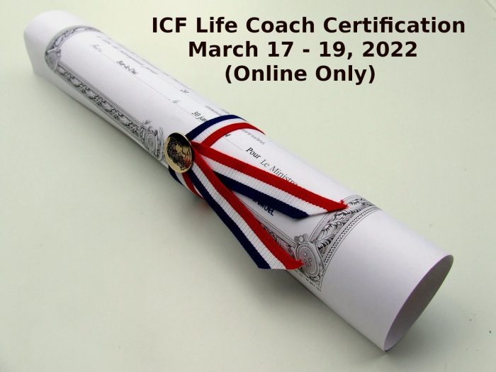 ICF Life Coach Certification March 17 19 2022