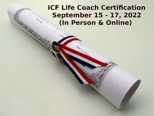 ICF Life Coach Certification September 15 17 2022 1 2